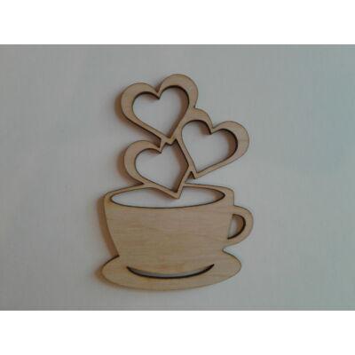 dekor kávécsésze, szív
