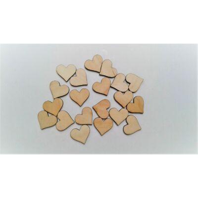 szív dekor, apró szív, fa szív