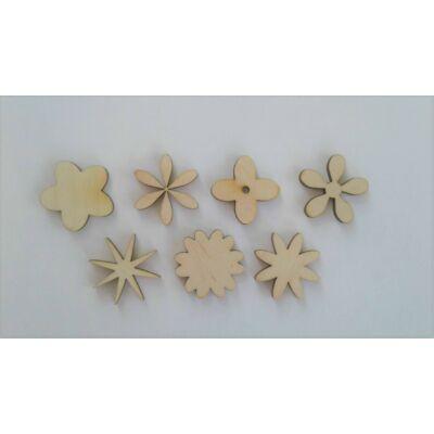 dekor virágok fából