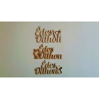 cicás édes otthon felirat, macskás dekor felirat