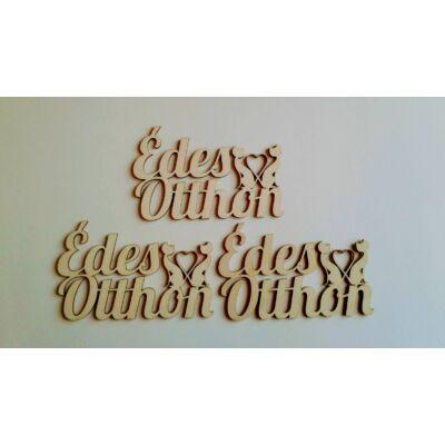 édes otthon felirat cicás, cicás dekor