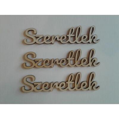 dekor szeretlek felirat