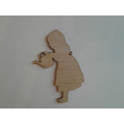 kislány dekor figura