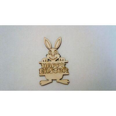 Nyúl Happy Easter táblával