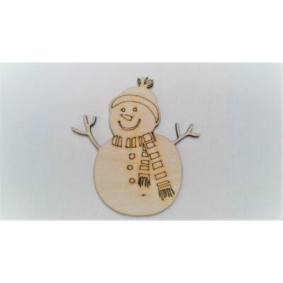 hóember figura, téli dekor kellék