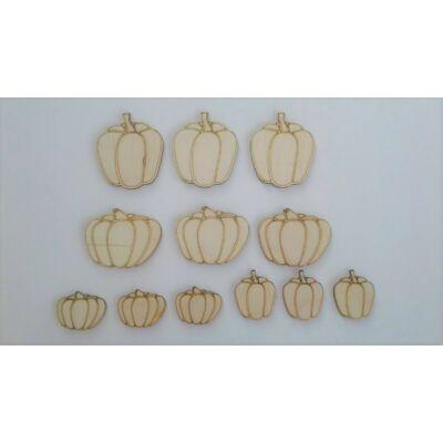 őszi dekor, sütőtök fa figura