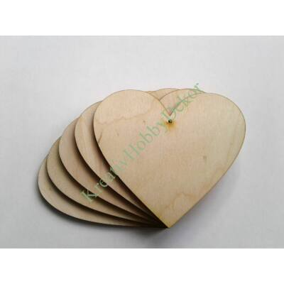 szív dekor fából