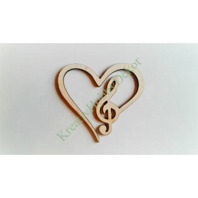 szív violin kulccsal dekor kellék