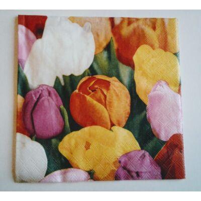 tulipános decoupage szalvéta
