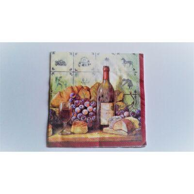 boros, szőlős őszi dekupázs szalvéta