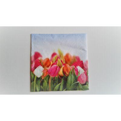 dekupázs szalvéta tulipánokkal