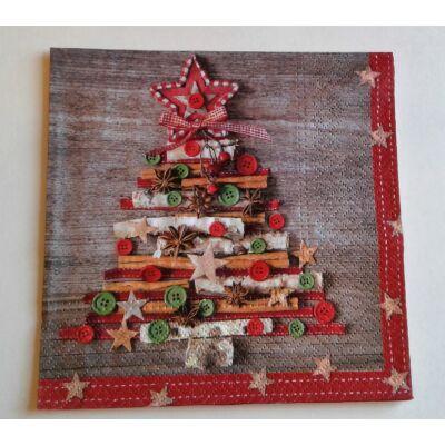 kreatív karácsonyfa dekupázs szalvéta