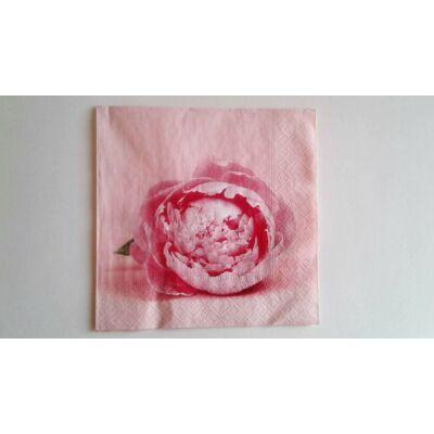 pünkösdi rózsás szalvéta, rózsaszín dekupázs szalvéta