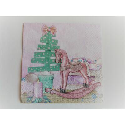 kreatív karácsonyfás dekupázs szalvéta