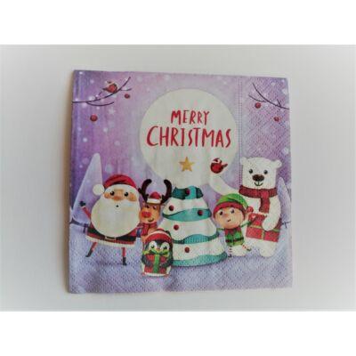 karácsonyi koktélszalvéta