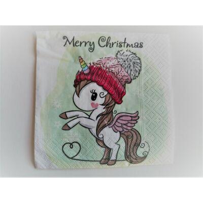 unikornisos karácsonyi szalvéta