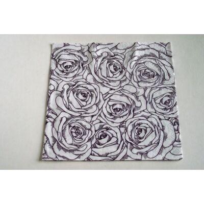 Rózsás szalvéta dekupázshoz
