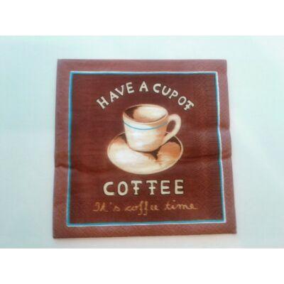 kávés szalvéta dekupázshoz