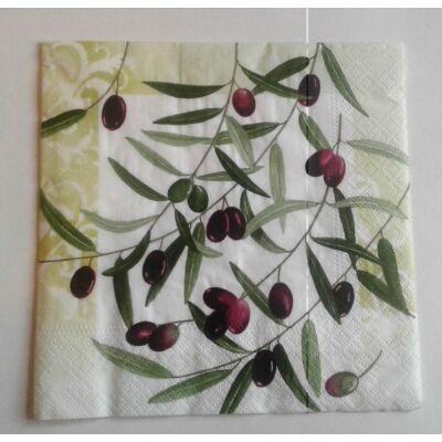 Olivás dekupázs szalvéta