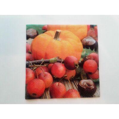 őszi termések decoupage szalvéta