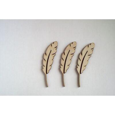 Madártollak fafigura dekorációs célre