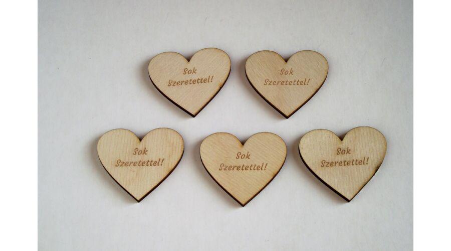 5 db szív alakú Sok szeretettel feliratú beszúró - KreatívHobbyDekor ... 204060353c